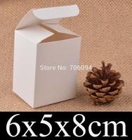 6*5*8cm Cosmetic/Jewerly white paper box 2.4''*2''*3.1'' handmade gift boxes,Essential oil box,custom box logo 100pcs/lot