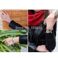 Free shipping Hot Selling Popular Loving Heart Alloy Band Wrist Watch for Lover/Girlfriend Women black purple blue H0797 P