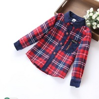 Cotton male Tong Gezi shirt , plaid corduroy jacket Spring and Autumn paragraph Children , 2015 new shirt