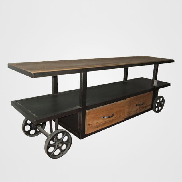 Achetez en gros meubles en bois de sapin en ligne des for Meuble tv loft industriel