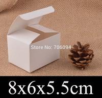 8*6*5.5cm Cosmetic/Jewerly white paper box 3.1''*2.4''*2.2''  gift boxes,Essential oil box,custom box logo 100pcs/lot