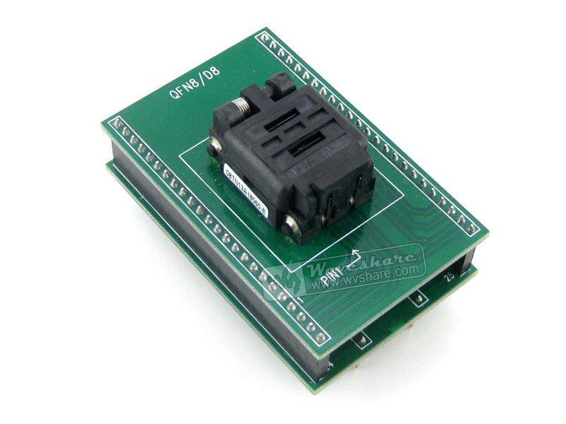QFN8 TO DIP8 (B) QFN8 MLF8 MLP8 Plastronics 08TN13A18060 QFN IC Programming Adapter Test Burn-in Socket 1.3mm Pitch(China (Mainland))