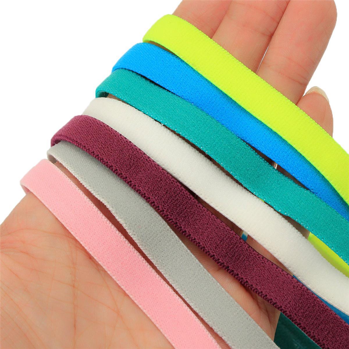 2015 High Quality Men&Women Hair Accessories Yoga Sports Unisex Stretch Headband Girl Hair Rope Elastic Band Headwear 10 Colors(China (Mainland))