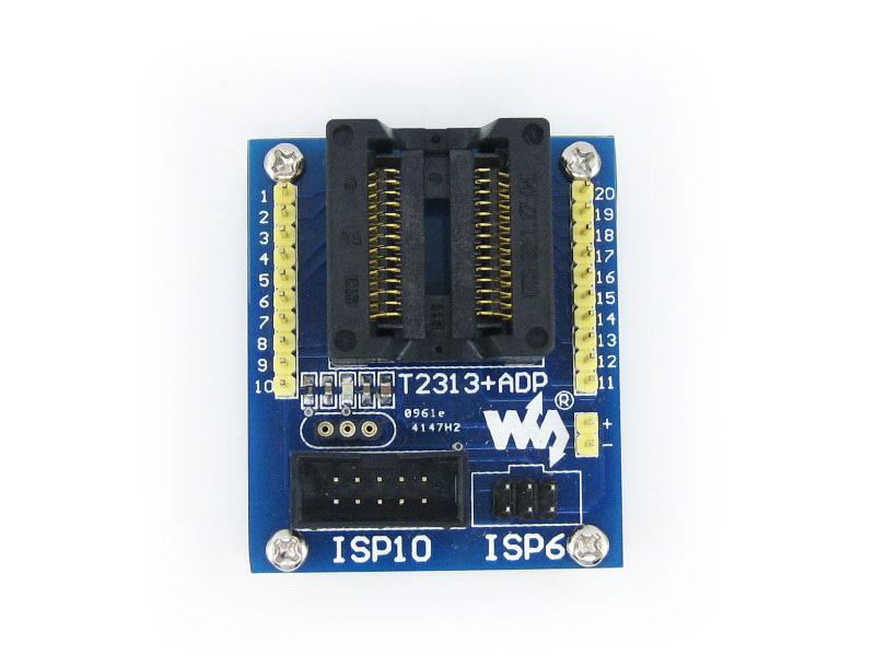 ATtiny2313 ATtiny4313 AVR SOIC20 (300 mil) ISP Programming Adapter Test Socket Freeshipping(China (Mainland))