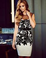 New Ladies print dress sexy backless clubwear tight club dress Y012