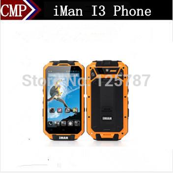 Original iMan i3 IP68 Waterproof Mobile Phone MTK6589T Android 4.2 4.3 Inch IPS 960X540 Gorilla Glass 1GB RAM 16GB ROM 13.0MP(China (Mainland))