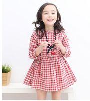 Branded children's clothing 2015 spring girls cotton floral dress wholesale