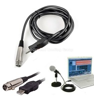 3M 9ft Microphone USB MIC Link Adapter Cable USB 2.0 Male To XLR Female Win7 Mac OS PC Computer