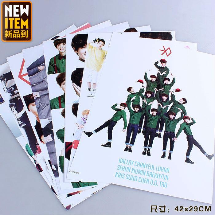 Стикеры для стен 8 kpop EXO Xiu /su 42 * 29 QY134548 мужская футболка kpop exo baekhyun chanyeol t camiseta