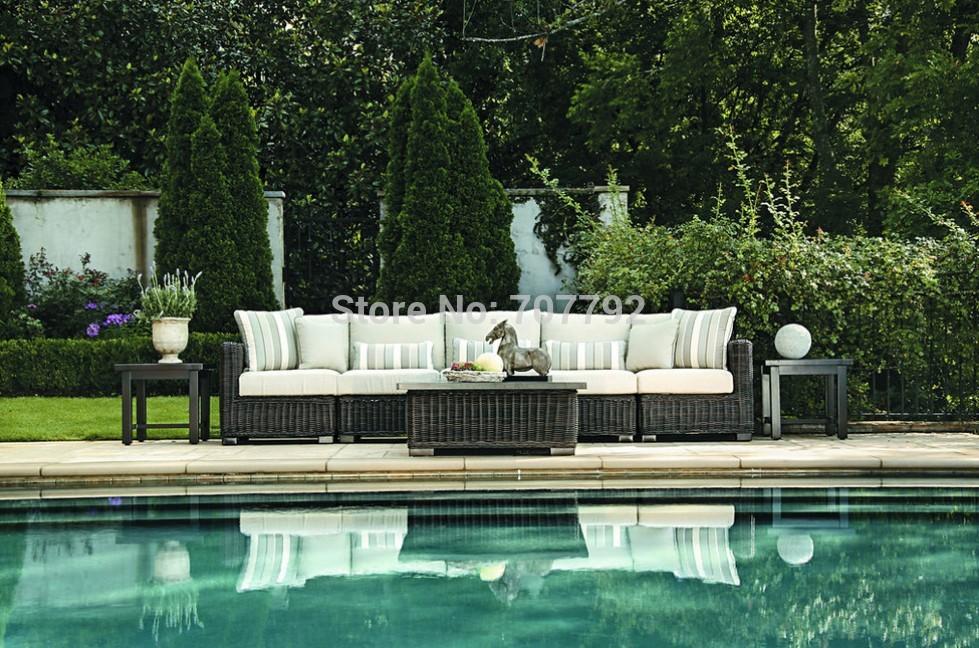 2015 New Product Outdoor Round Rattan Sofa Set wicker furniture(China (Mainland))