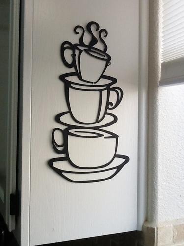 5pcs Coffee House Cup Java Silhouette Wall Art Mug Wall decals Home Decor(China (Mainland))