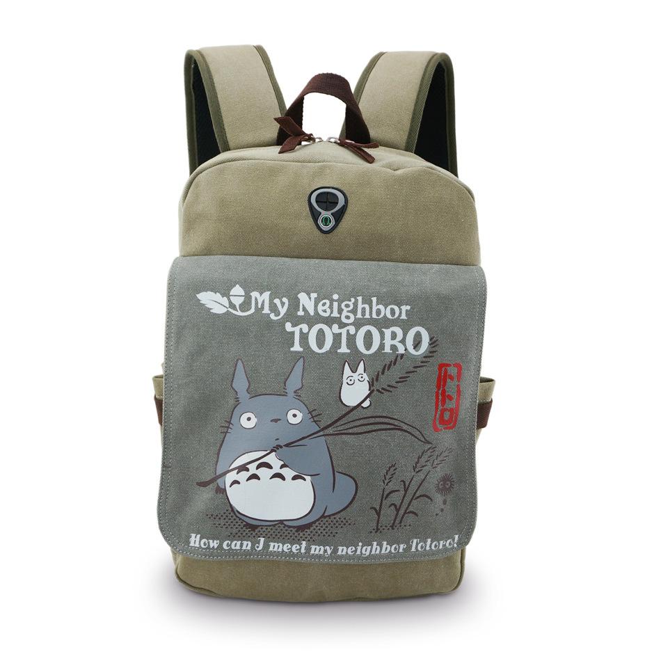 My Neighbor Totoro backpack Tonari no Totoro Canvas school bag(China (Mainland))