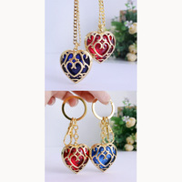 10pcs/lot The Legend of Zelda Keychain Blue Heart Skyward Sword Heart Container Pendant Jewelry Key Chain