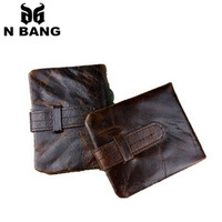 2015 new design short genuine  leather men wallets vintage style and fashion popular of men and best gifts for men good quality