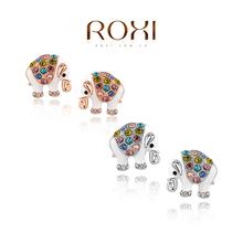 2015 NEW WAVE Cute Elephant Earring Lovely Girl Fashion Jewelry Pearl Stud Earring