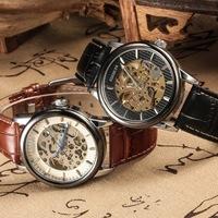 Free shipping! Top grade leather quartz watch women, High quality new luxury mechanical wrist watches men