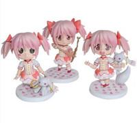 Free Shipping Puella Magi Madoka Magica kaname madoka Mini PVC Action Figures Toys Dolls 3pcs/set