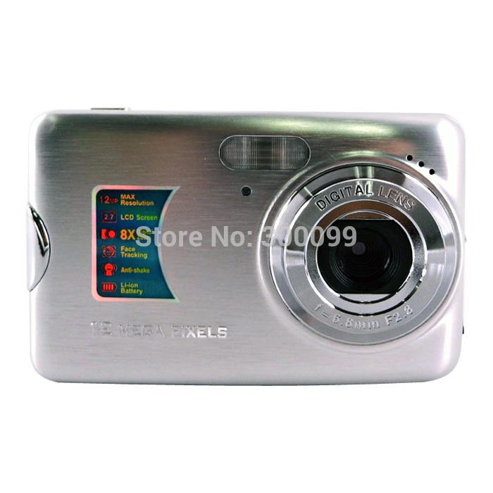 """New 2015 12mp digital camera 2.7"""" tft lcd 5mp cmos sensor cheap camera 8x digital zoom lithium battery(China (Mainland))"""