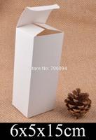 6*5*15cm Cosmetic/Jewerly white paper box 2.4''*2''*5.9'' handmade gift boxes,Essential oil box,custom box logo 100pcs/lot