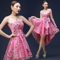 модные новые золотые кружева короткие выпускные платья 2015 сексуальный спинки ужин коктейльные платья, вечерние платья накидка de soiree платье e145