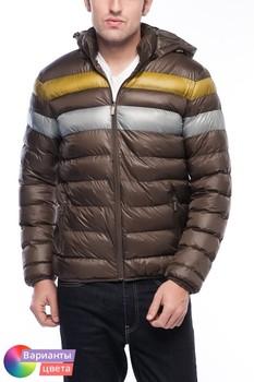 Мужская дутая куртка-пилот на молнии с капюшоном Let's GO из коллекции весна 2015 из Турции с бесплатной экспресс доставкой ( 14K6639 ) [ BR05 MCM01 TP40 SP06 ]