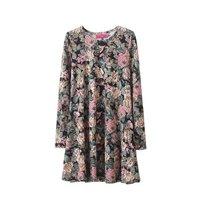 2015 spring new  Slim figure flower dress  hedging long-sleeved base dress8172