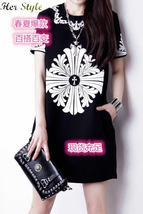 Free Shipping new 2014 Pakistani dresses vintage short sleeve print dress large discount 20150331(China (Mainland))