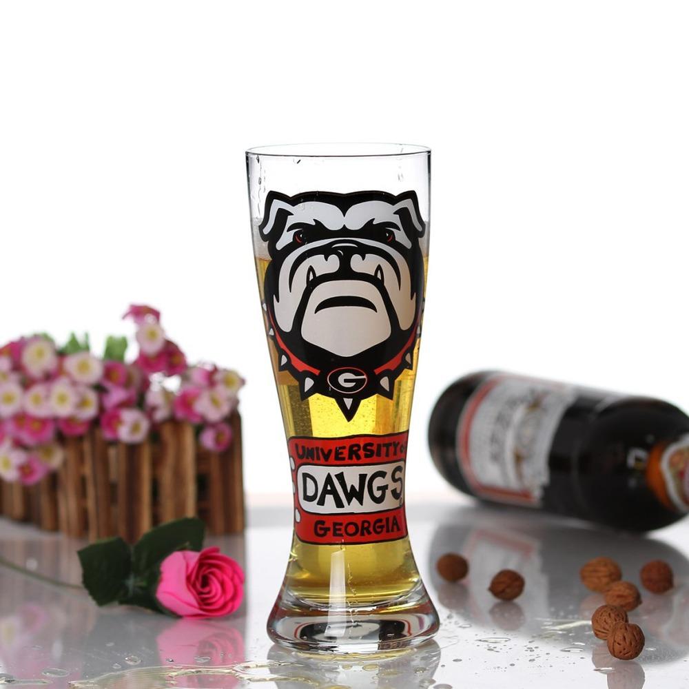 Manufacturers custom creative printing large capacity glass beer mug beer mug wholesale artificial blowing(China (Mainland))