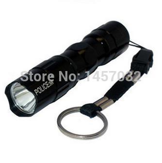 HOT MINI led portable flash light waterproof flash light POLICE-3w Camping Illumination mini LED Handheld flashlight(China (Mainland))