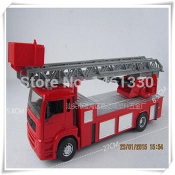 Scale models car styling Fire truck kids toys rc model modelador car fireman sam cars miniatures cheap toys slot car 1/32(China (Mainland))