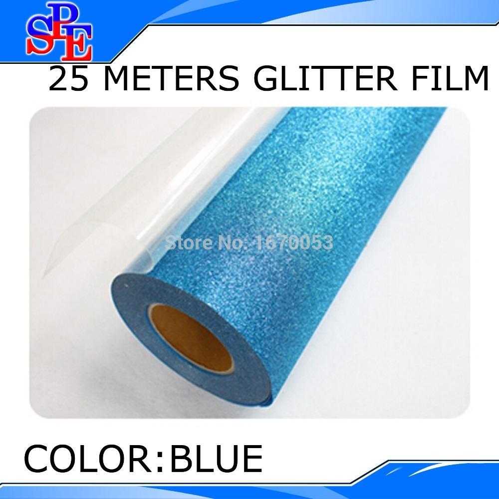 Free Shipping FeDex 25M Iron On Glitter Heat Transfer Vinyl Printing(China (Mainland))