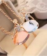Korean star big love of fine fashion jewelry girl Crystal Rhinestone Necklace Free shipping(China (Mainland))