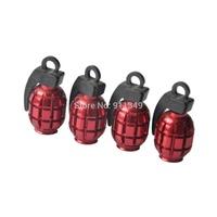 Car styling red landmine style Car Valve Cap , tire valve cap