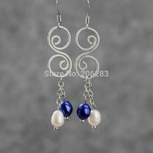 Pearl earrings tassel long design fashion handmade earring drop earring national trend earrings(China (Mainland))