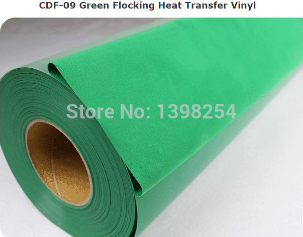 Flock vinyl t shirt transfers for fashion clothes green color(China (Mainland))