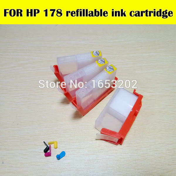 To save money 5 Color For HP178 refill ink cartridge For HP printer C309G C309C C310C C309A CQ521C CN503C 7510 for hp 178(China (Mainland))