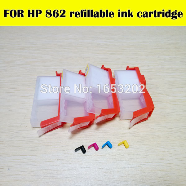 SELLING!! 5 Color For HP862 refill ink cartridge For HP printer C309G C310A C410D 7510-C311A with for hp 862(China (Mainland))