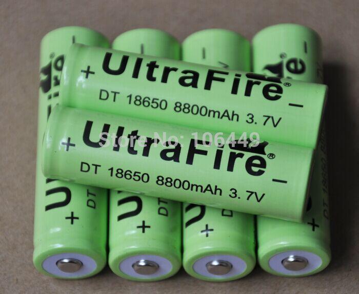 все цены на Аккумулятор 40pcs/ultrafire 8800MAH 3.7V 18650 li/ion ICR18650 онлайн
