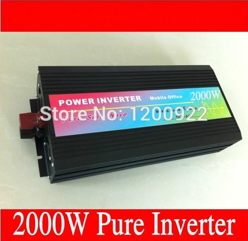 Power inverter 2000W 24V 220V, off grid inverter 2000W pure sine solar invertor(China (Mainland))