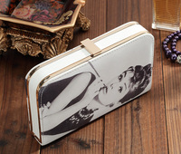 New Cartoon PU Acrylic Rhinestone Clutch Bags Girls Purse Bags With PU Inner Decoration Magazine Designer Wallet DPP-001