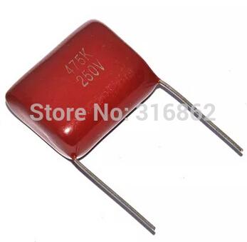 Конденсатор N/A 20pcs/lot CBB 250 475 4.7UF 250 4700NF 25 250V 475 4.7UF 4700NF 100 pcs lot cbb capacitor 630 v473 473 k 473 v 47 nf feet from 10 mm cbb22 film capacitor