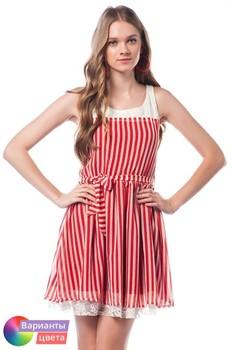 Женское модное платье в полоску LET'S GO из коллекции весна 2015 из Турции с бесплатной экспресс доставкой ( 14Y2013 ) [ BR05 MCW01 TP21 SP02 ]