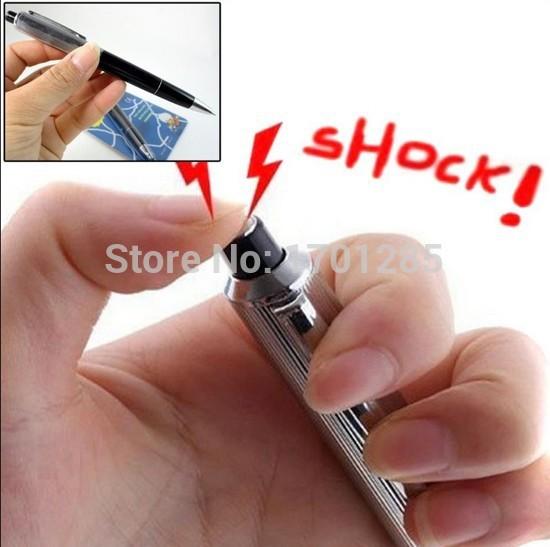 Electric Shock Ballpoint Working Pen Gag Funny Gift Prank Joke Shocker Toys NEW(China (Mainland))