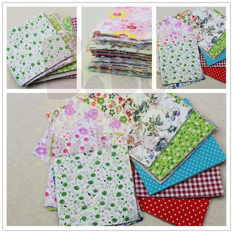 Brand New 10Pcs Square Shape Cotton Patchwork Floral Polycotton Kitchen Bathroom DIY Fabric 10x10(China (Mainland))
