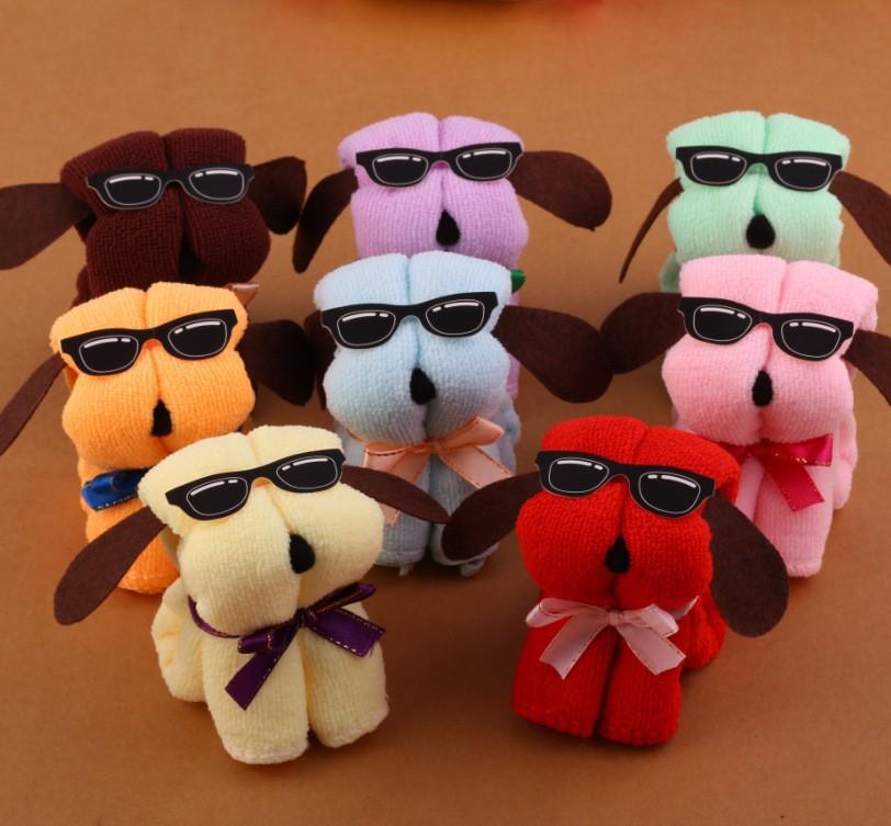 3PCs / LOT HOT New Dog Cake Shape Towel Cotton Washcloth Wedding Gifts K531TR(China (Mainland))