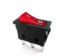 10 pcs SPST OFF / ON 250 V 16A interruptor elétrico com neon PA66 iluminado chaves oscilantes(China (Mainland))