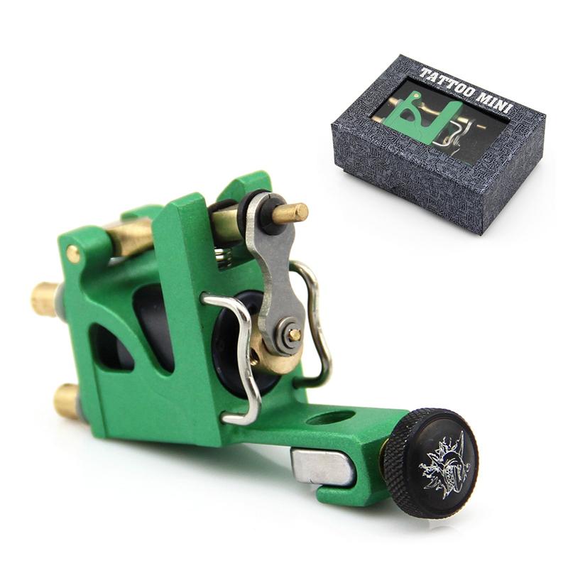 Green Pro Alu Alloy Mini Motor Rotary Tattoo Machine Gun Brass Bar Liner Shader(China (Mainland))