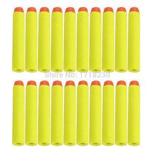 400 шт. дети для детей игрушечный пистолет пуля дартс с полукруглой головкой NERF для NERF N-Strike элитный серия 7.2 см желтый