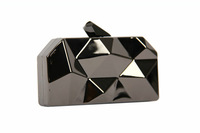 Luxury Metal Material Rhinestone Clutch Bags Womens Chain Bags Designer Evening Bags Prom Purse Geometrical Shape Bags 9010