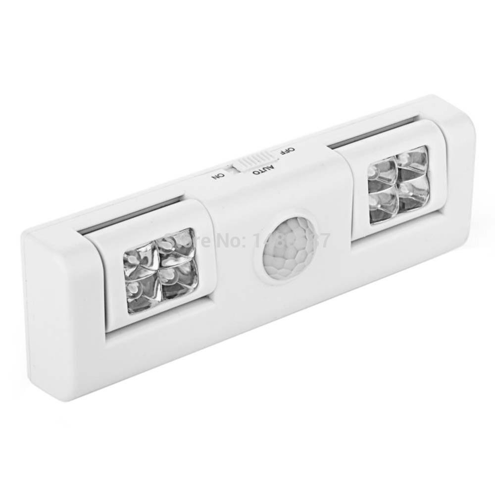 Wireless Adjustable Infrared Sensor Battery operated Cabinet Closet LED Night Light(China (Mainland))